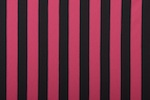 Printed Stripes (Black/Fuchsia)