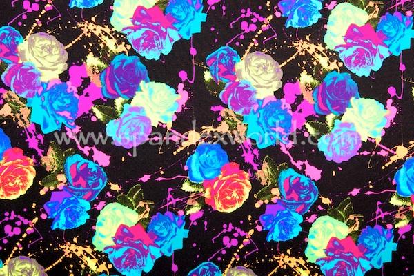 Floral Prints (Black/Neon Multi)