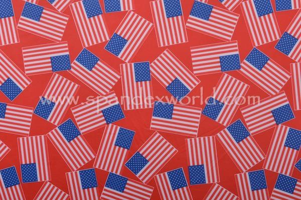 Printed Spandex (Red/Blue/White)