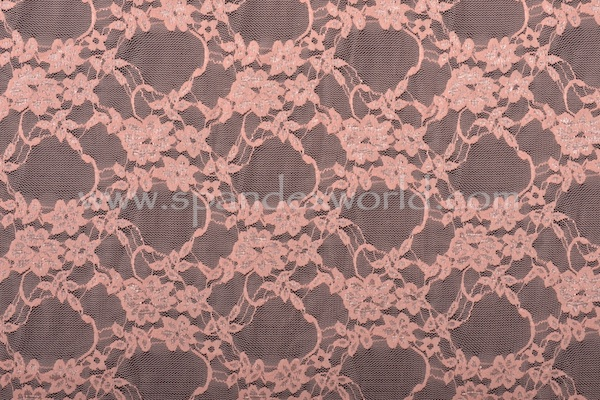 Stretch Lace (Salmon pink)