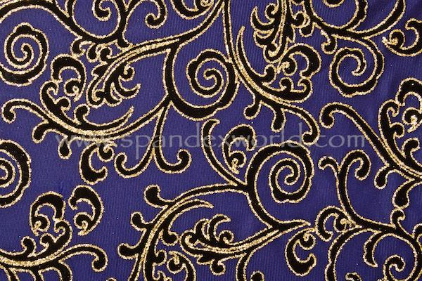 Glitter/Pattern Mesh (Purple/Gold/Black)