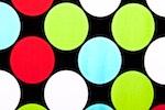 Printed Polka Dots (White/Multi)