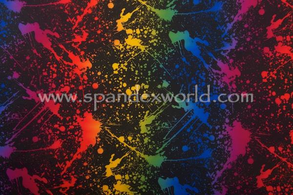Printed Spandex (Black/Multi)
