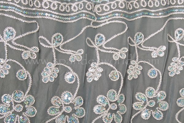 Non-Stretch Sequins Lace (Lt. blue/Dior/Multi)