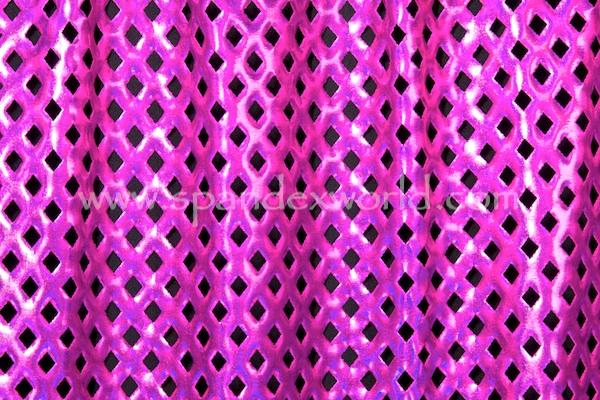 Metallic Pattern Spandex (Fuchsia/Fuchsia Holo)