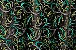 Glitter/Pattern Stretch Velvet (Black/Green/Multi)
