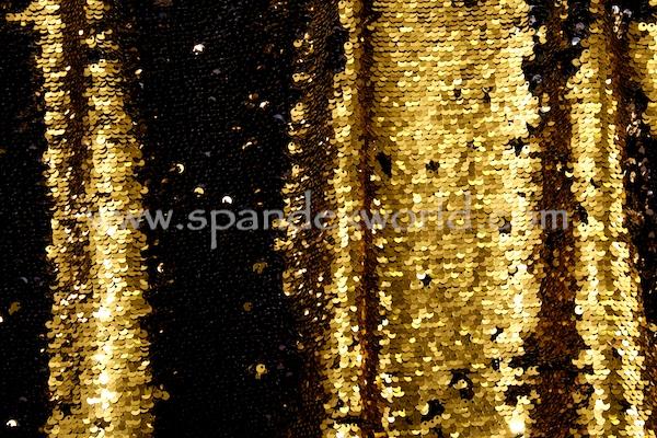 Reversible Stretch Sequins (Gold/Black)