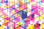 Abstract Print Spandex (Yellow/Fuchsia/Multi)