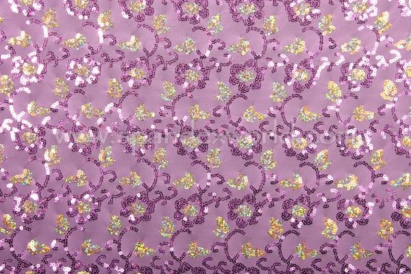Stretch Sequins (Lt.purple/Gold Holo)