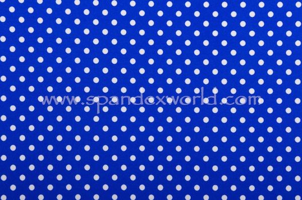 Printed Polka Dots (Royal/White)