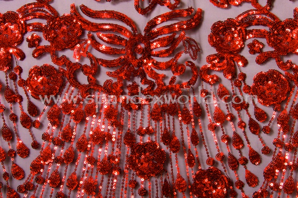 Non-Stretch Sequins (Red)