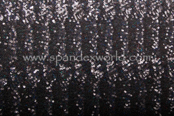 Stretch Sequins (Black/Black Holo)