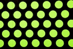 Polka Dots (Black/Fluorescent Green)