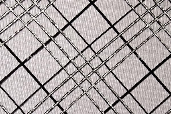 Glitter/Pattern Mesh (Black/Black/Silver)
