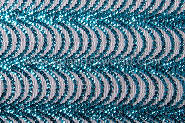 Non Stretch Sequins (Black/Turquoise)