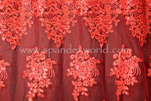Non Stretch Sequins (Red/Red)