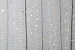 Glitter/Pattern Mesh (Silver/Silver Holo)