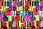 Pattern/Abstract Hologram  (Black/Purple/Orange/Red/Multi)