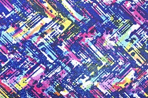 Pattern/Abstract Hologram  (White/Blue/Purple/yellow/Multi with blue holo)