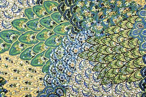 Peacock Prints With Sequins (Black/Green/Blue/Multi)