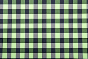 Checkered Print (Black/Green)