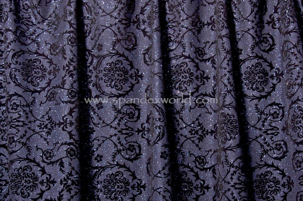 Glitter/Pattern Mesh (Navy/Navy/Black)