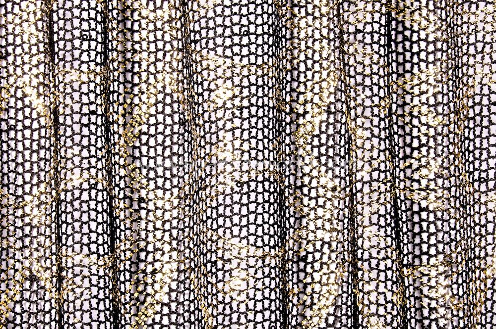 Metalic Fishnet (Black/Gold)