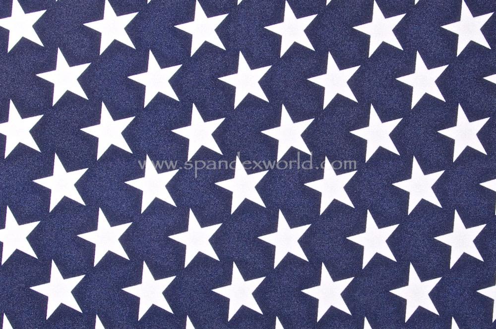 Printed Star (Navy/white)