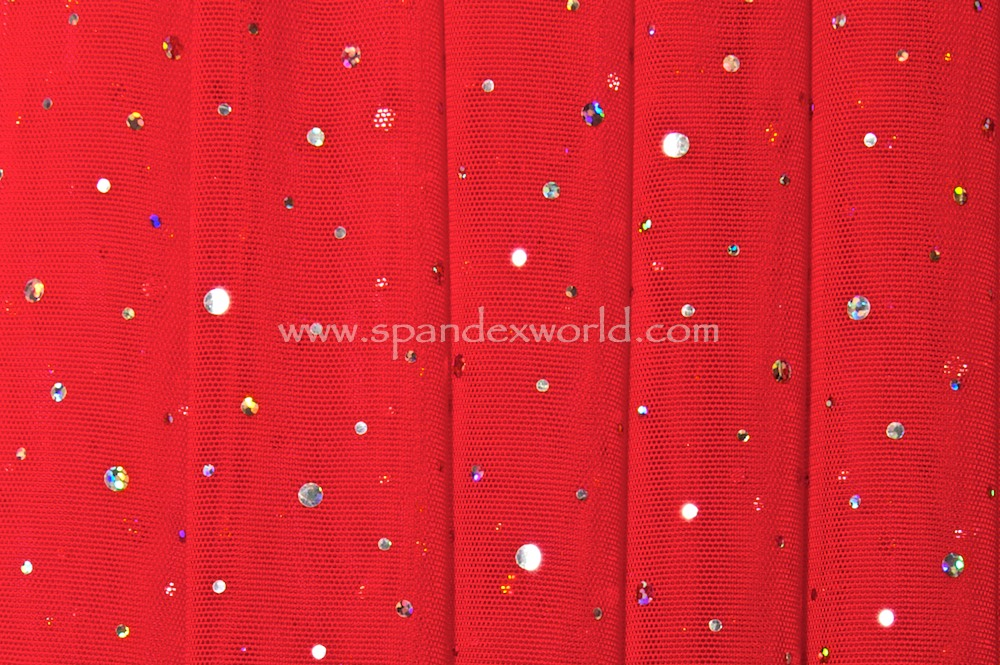 Glitter/Pattern Mesh (red/silver)