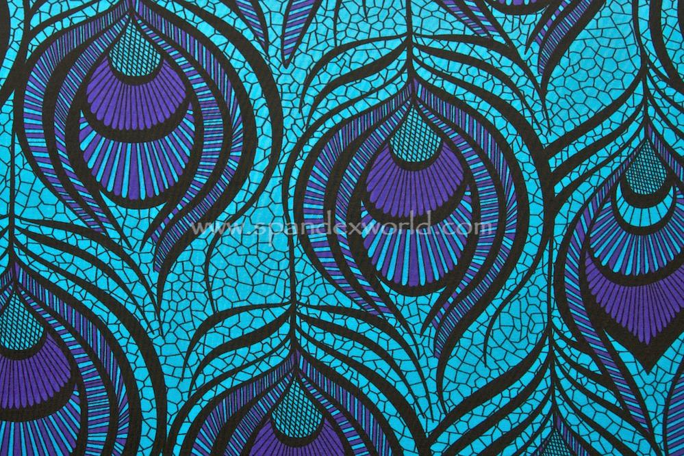 Peacock prints (Violet/Turquoise/Black)