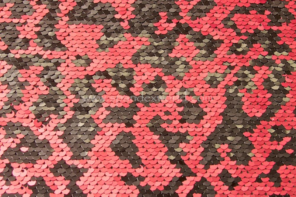 Stretch Sequins (Red/Black)