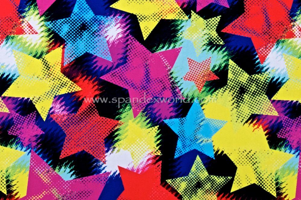 Printed stars(Red/Yellow/Black/Multi)