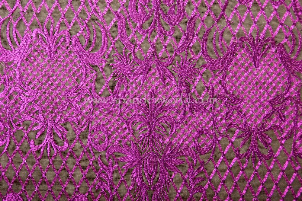 Non Stretch Lace (Nude/Purple)