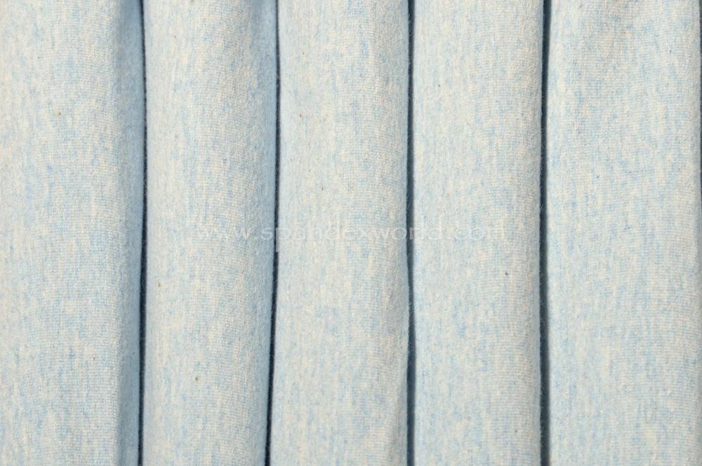 Cotton Lycra® (Heather Baby Blue) (Heavy-weight)