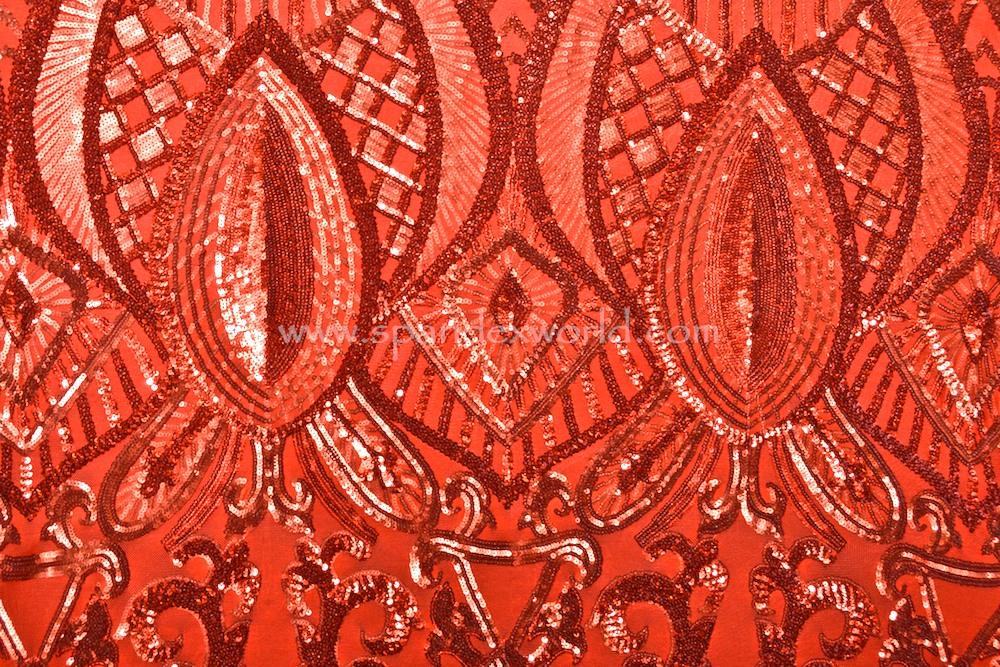 Stretch Sequins (Red/Red)