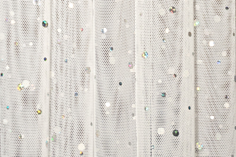 Glitter/Pattern Mesh (Off White/Silver Holo)
