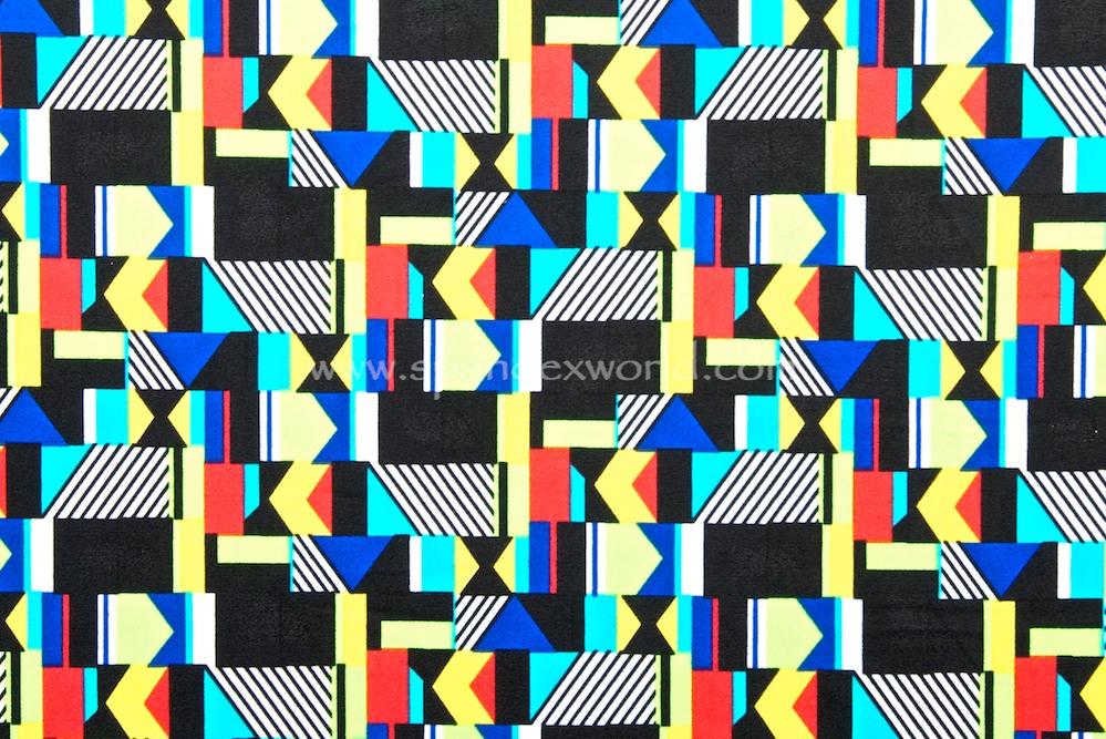 Abstract prints (Black/Neon lime/Royal multi)