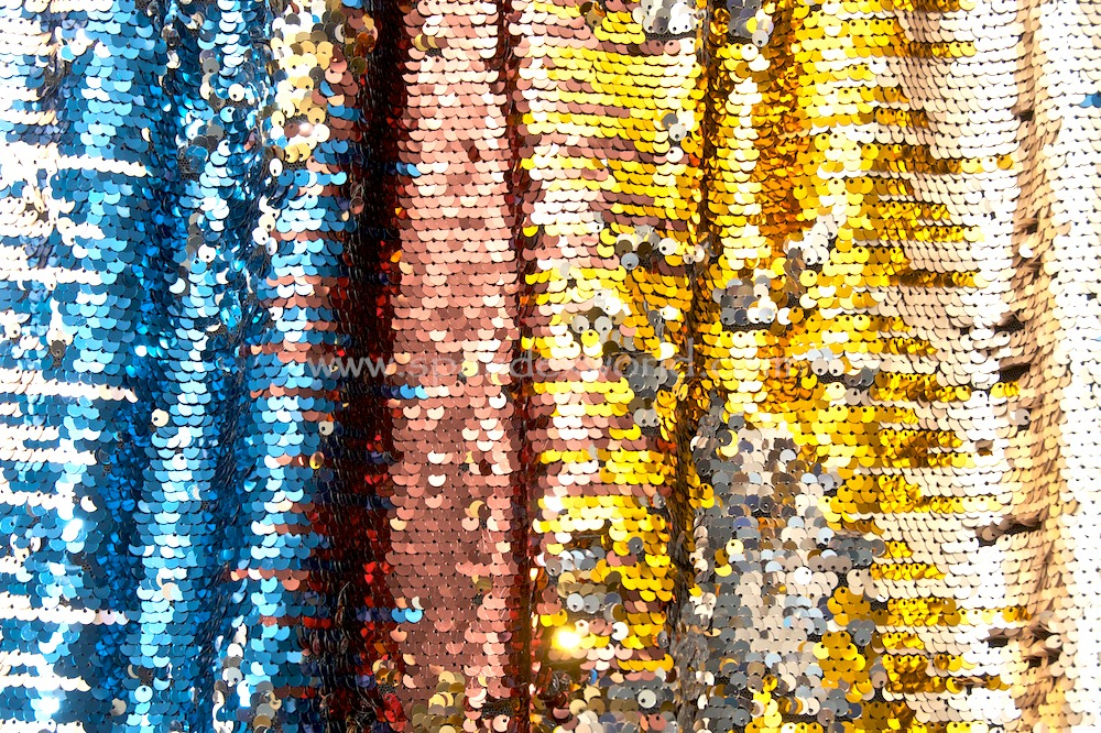 Stretch Sequins (Gold/Royal/Multi)