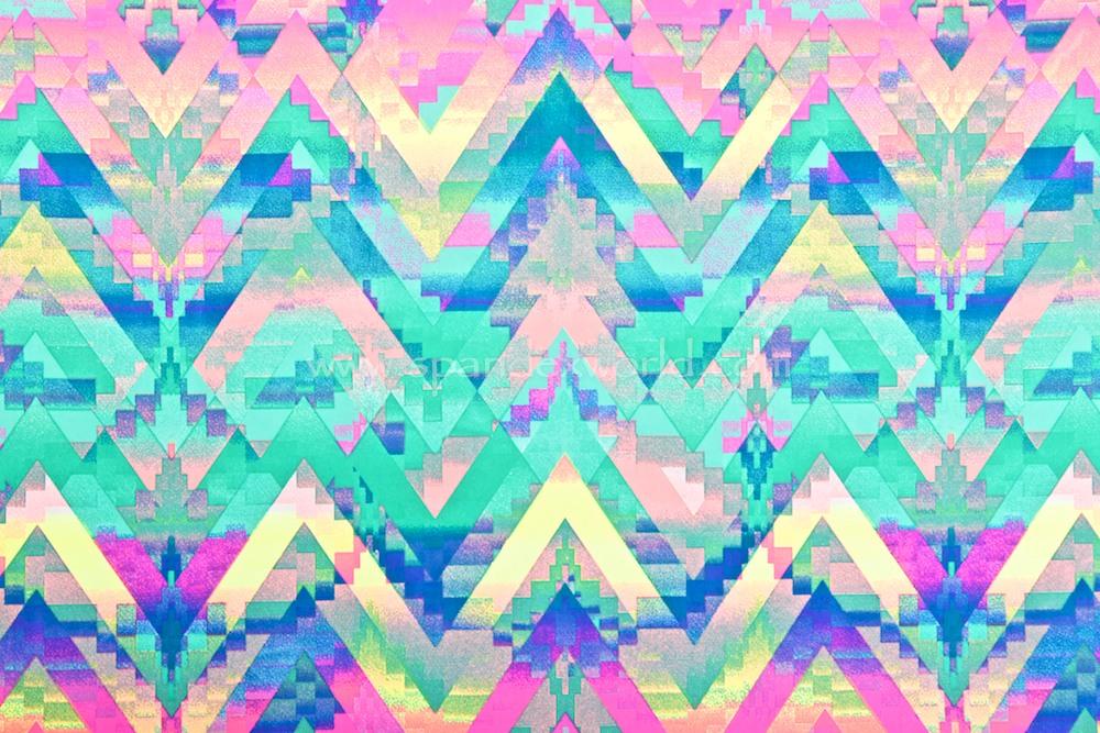 Aztec Print (Fuchsia/Blue/Aqua/Multi)