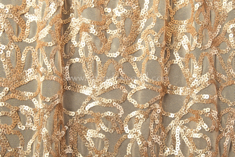 Stretch Sequins (Gold/Gold)