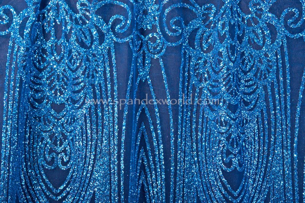 Cracked ice lace (Royal/Royal)