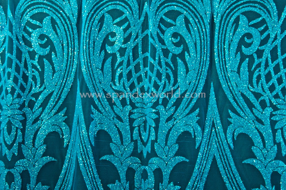 Cracked ice lace (Turquoise/ Pearl)