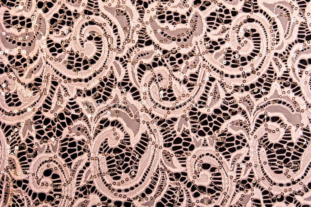 Stretch Sequins Lace (Vintage Rose)