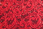 Stretch Sequins Lace (Red)