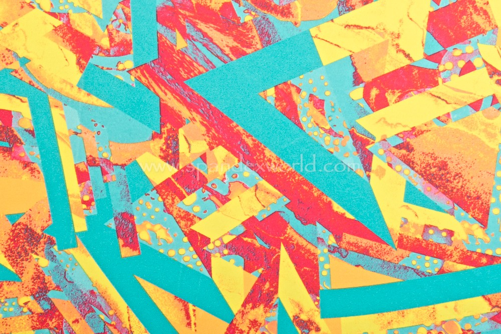 Abstract Print (Aqua/Red/Multi)