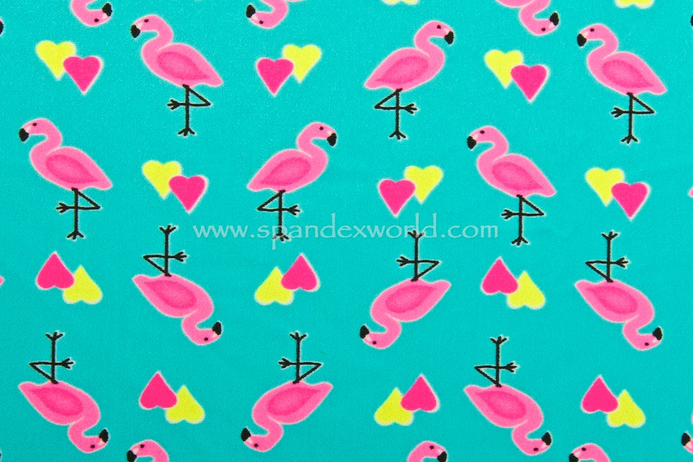 Printed Spandex (Turquoise/Pink/Lemon/Multi)