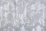 Non-Stretch Sequins (White/Silver)