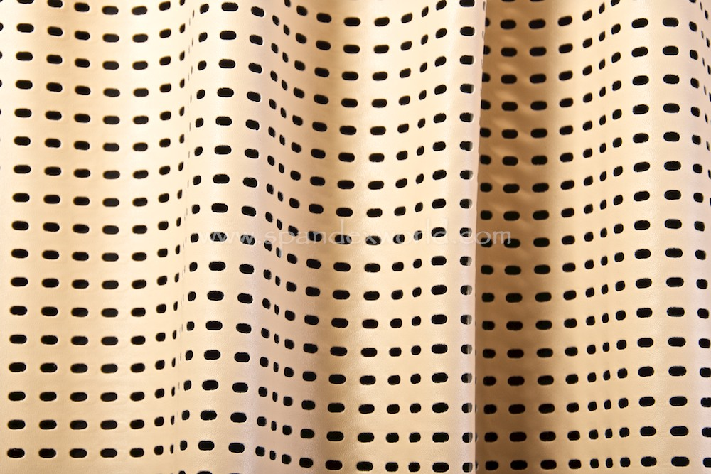 Pattern Faux Leather (White/Nude)
