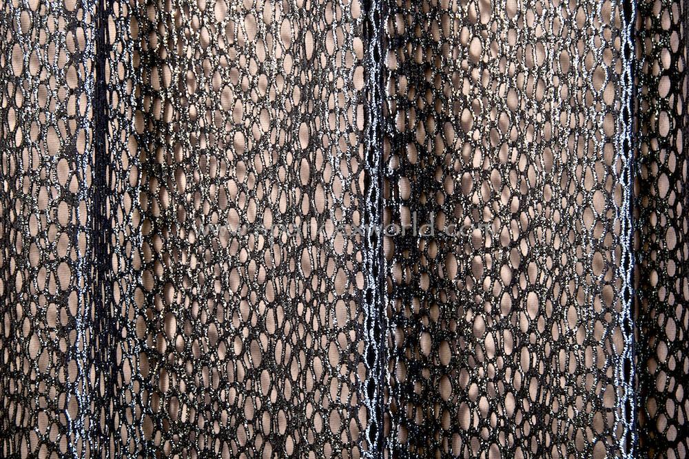 Metalic Fishnet (Black/Silver)
