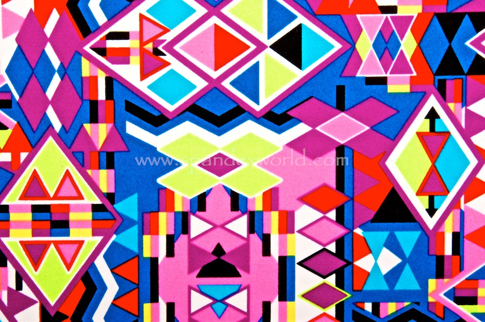Aztec Print (Hot Pink/Lime/Multi)